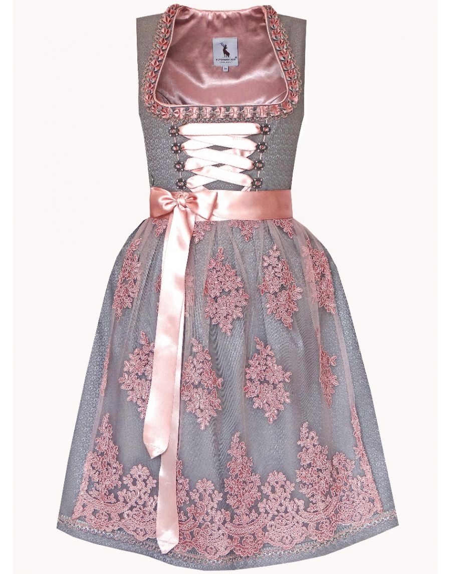 Dirndl Midi grau/rosa