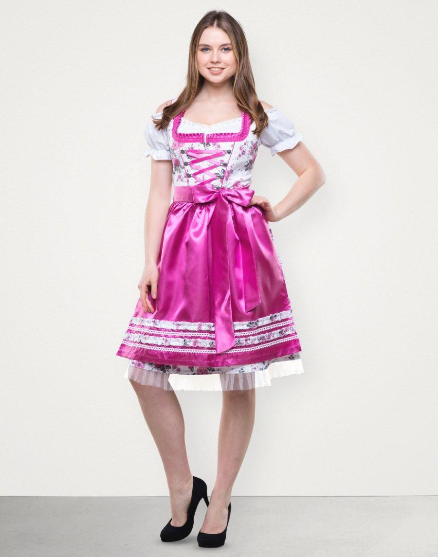 "Dirndl Midi ""Tamara"" in Lila Pink"