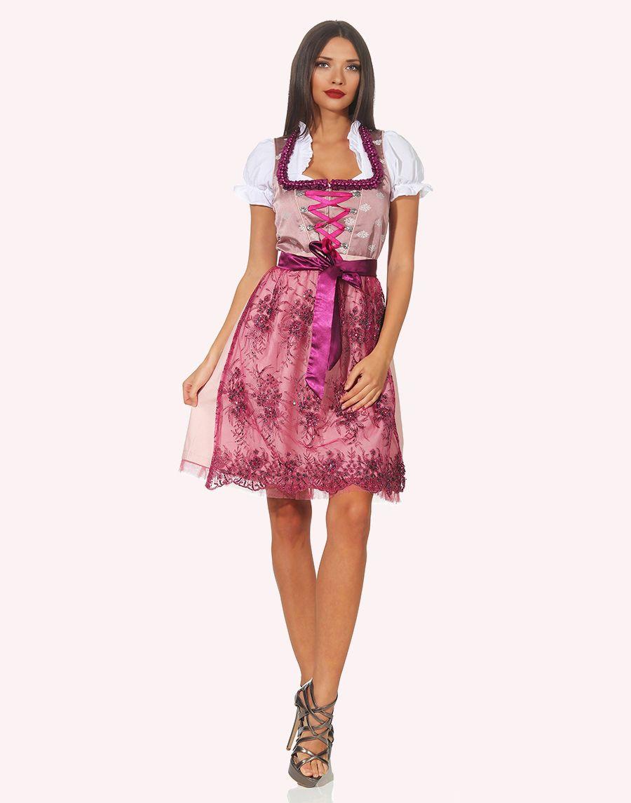 "Dirndl Midi ""Ziska"" in Pink"